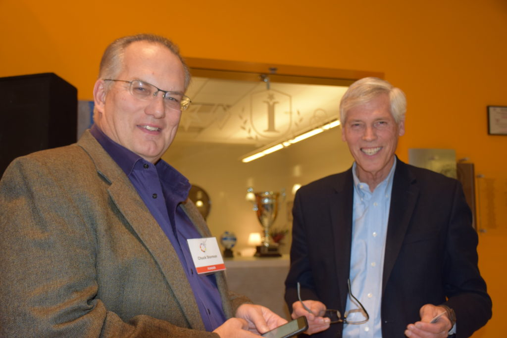 Start Fast Code founder Chuck Storman with Terry Brown of the Falcone Center
