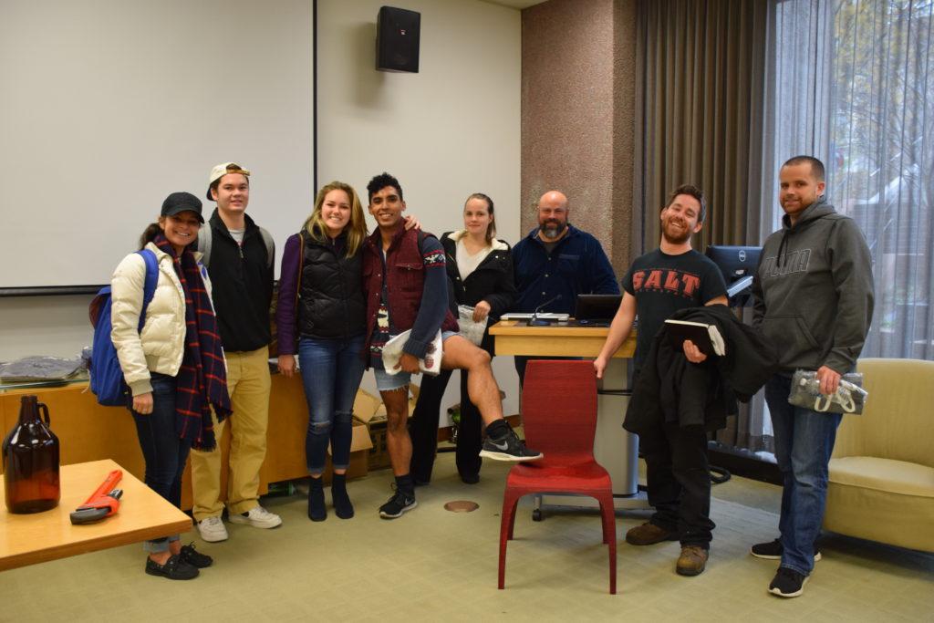 Rob Englert and some student entrepreneurs