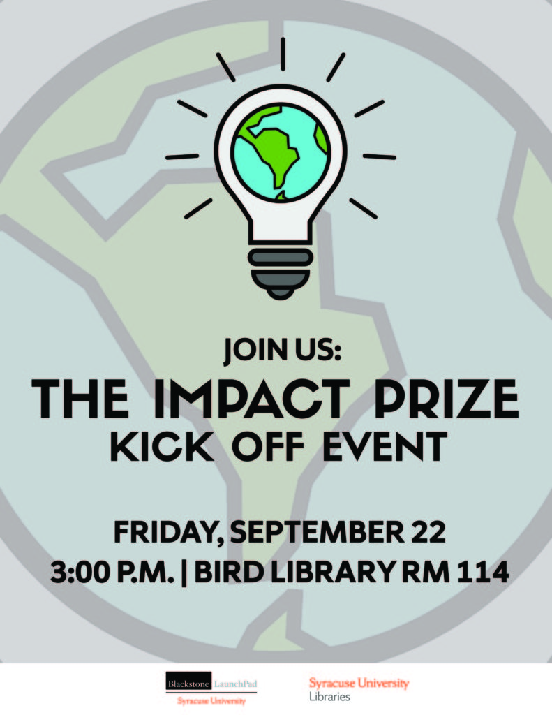 The Impact Prize Kickoff graphic