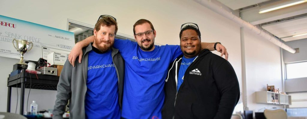 Photo of the SparkCharge team