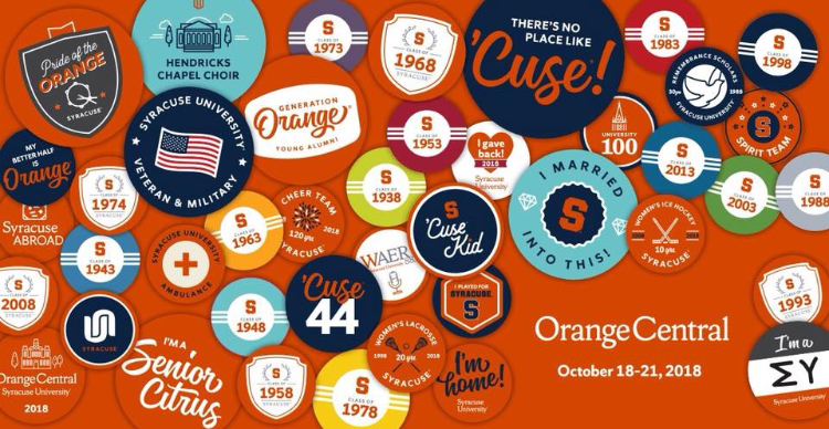 Orange Central decorative graphic
