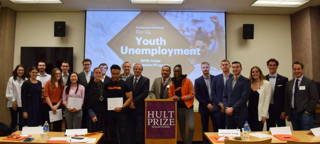 Hult Prize finalists and judges