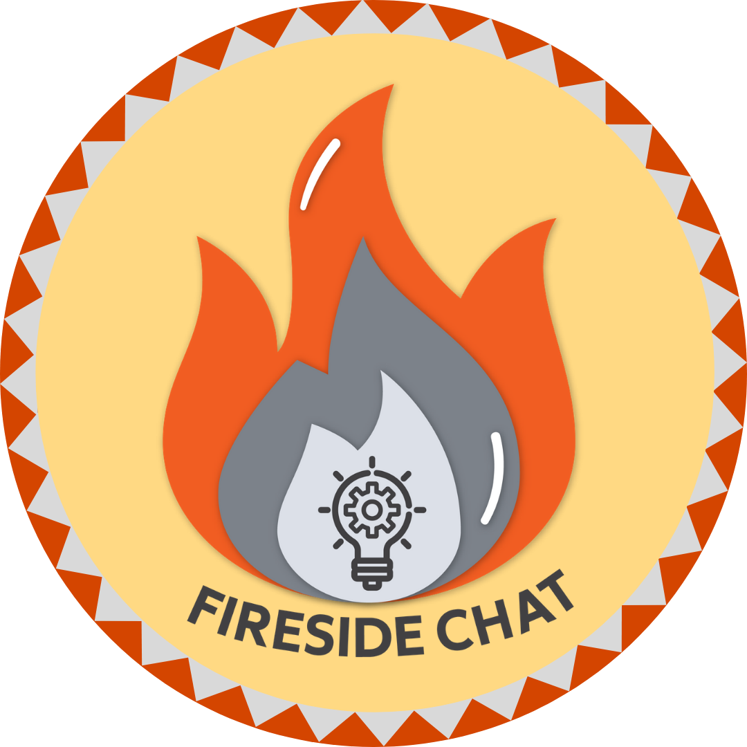 Attend a fireside chat badge