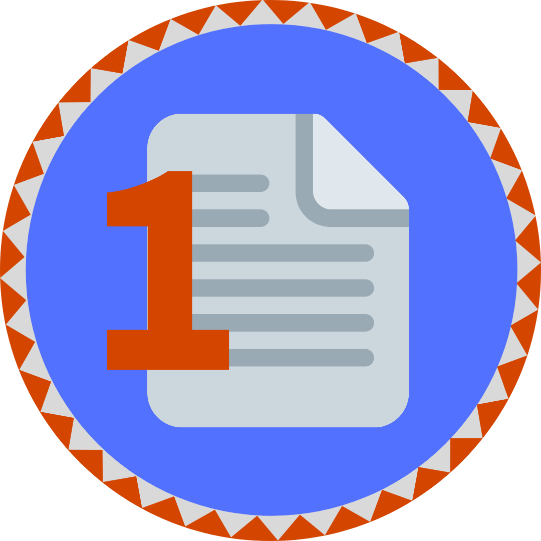 one-pager badge