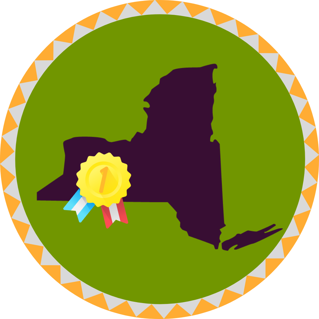 Regional business competition winner badge