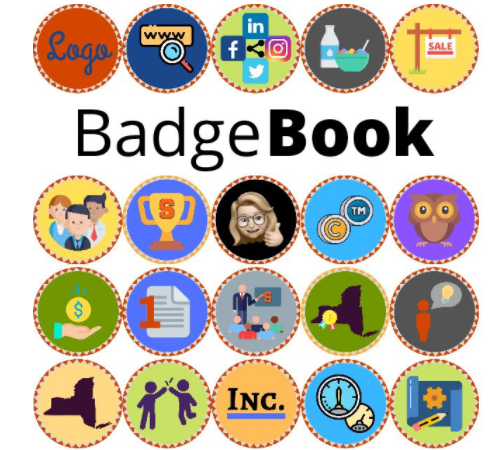Earn badges for each successful step you take as an innovator