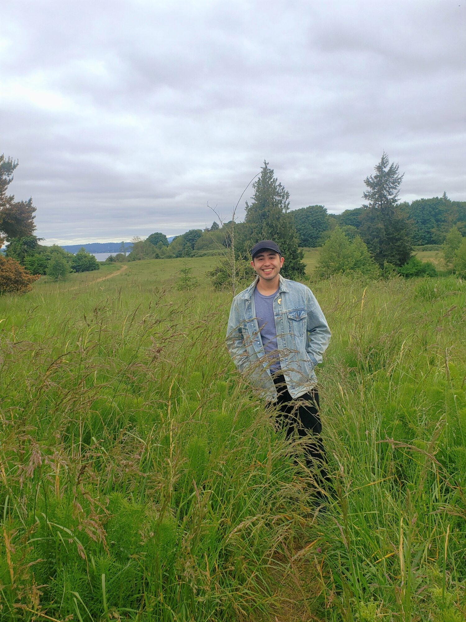 Man standing n a field