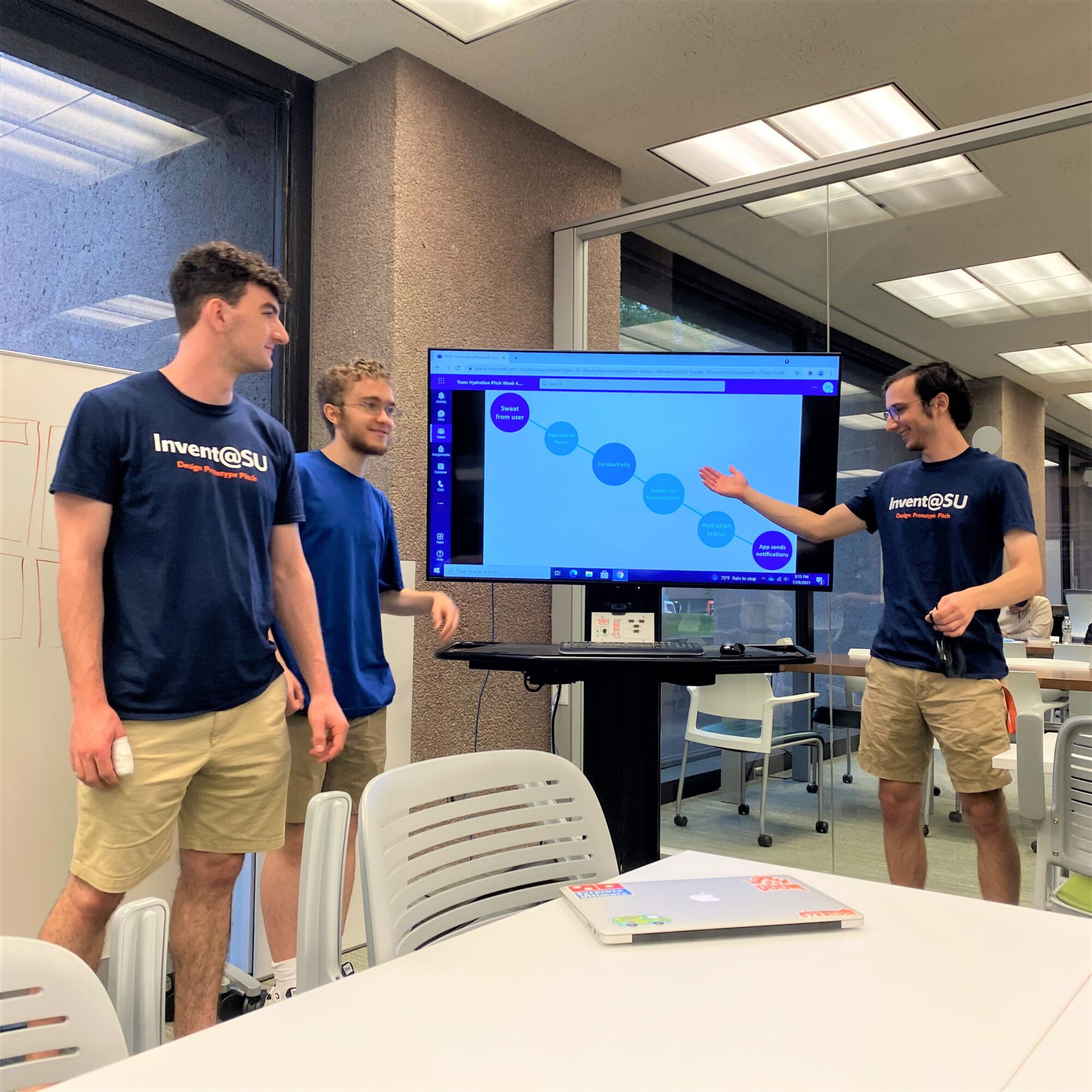 Student team practicing in the LaunchPad